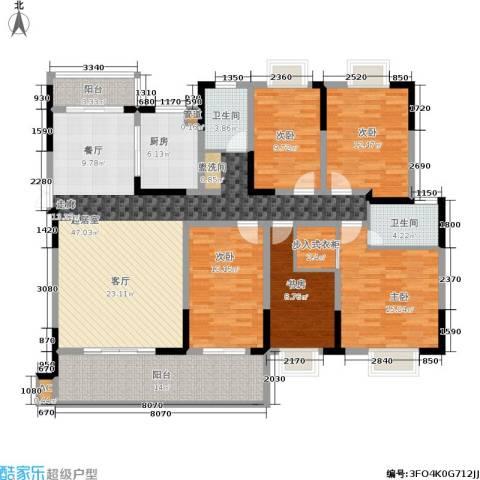 德泽苑5室0厅2卫1厨162.00㎡户型图