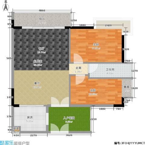 华新都市花园2室0厅1卫1厨82.00㎡户型图
