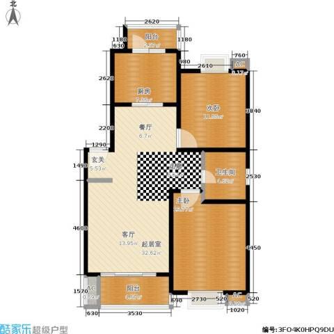 恒大华城天地苑2室0厅1卫1厨92.00㎡户型图