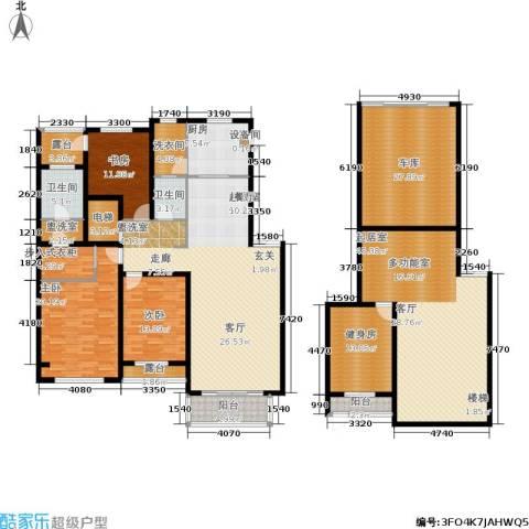 锦绣澜湾3室0厅2卫1厨223.26㎡户型图
