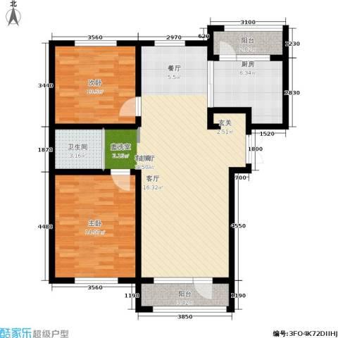 凯利花园2室1厅1卫1厨105.00㎡户型图