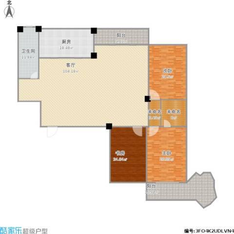 嘉鸿花园3室1厅1卫1厨327.00㎡户型图