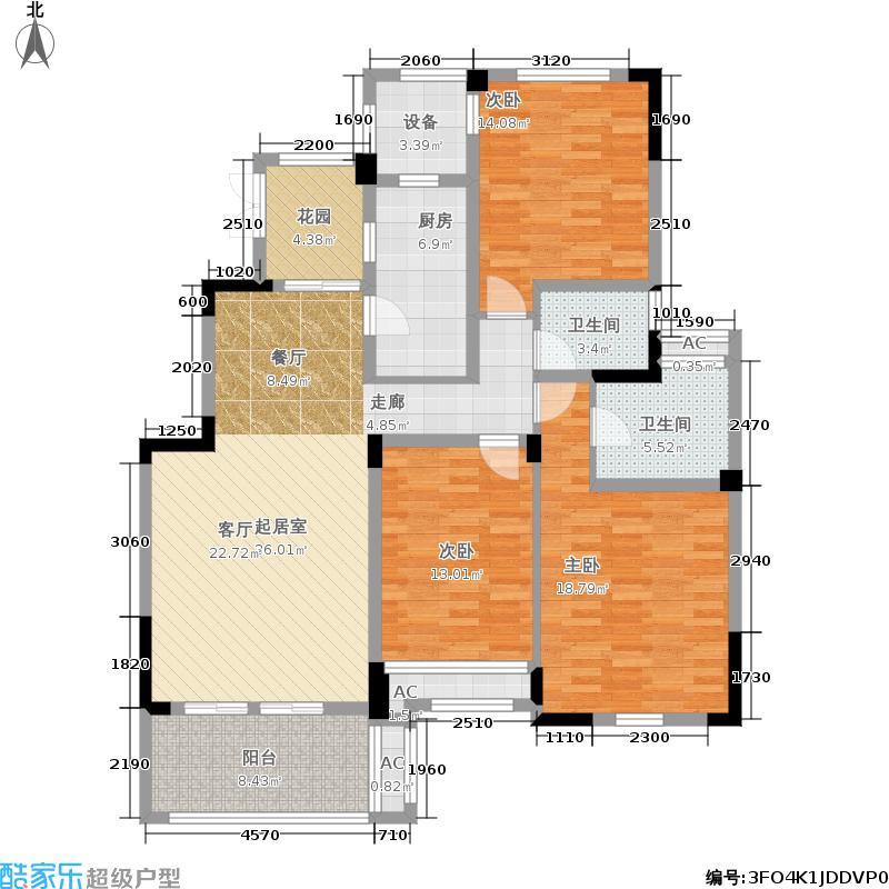 雲锦世家135.00㎡C2-c标准层户型3室2厅