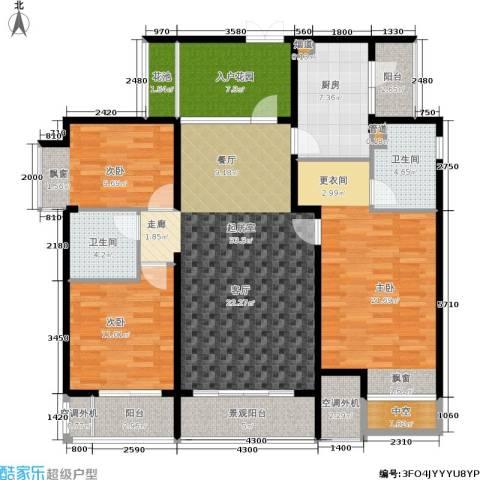 华新都市花园3室0厅2卫1厨125.00㎡户型图