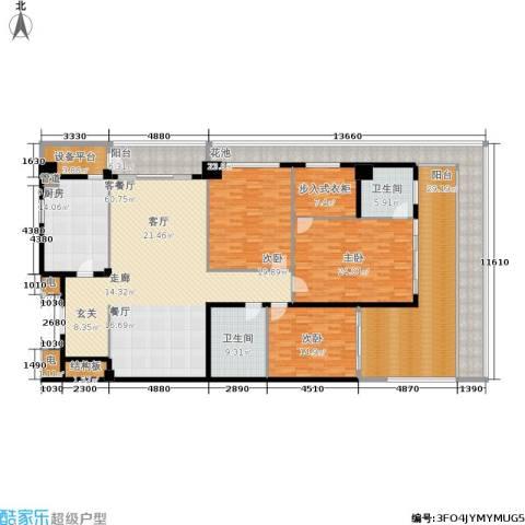 绿城之江1号3室1厅2卫1厨243.00㎡户型图