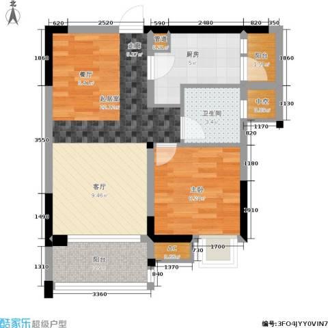 康田龙腾湾1室0厅1卫1厨68.00㎡户型图
