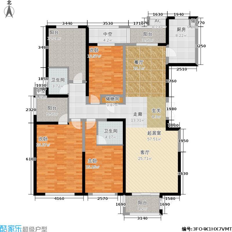 复地崑玉国际179.56㎡欧泊户型4室2厅