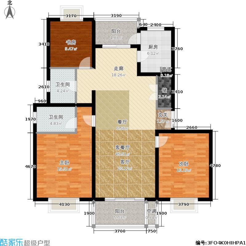 东方听潮豪园136.79㎡C6面积13679m户型