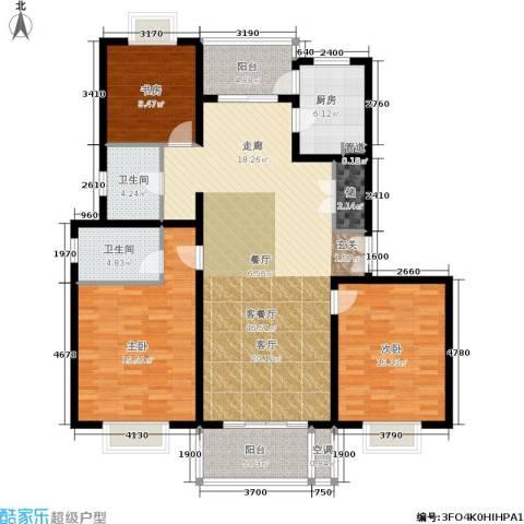 东方听潮豪园3室1厅2卫1厨137.00㎡户型图
