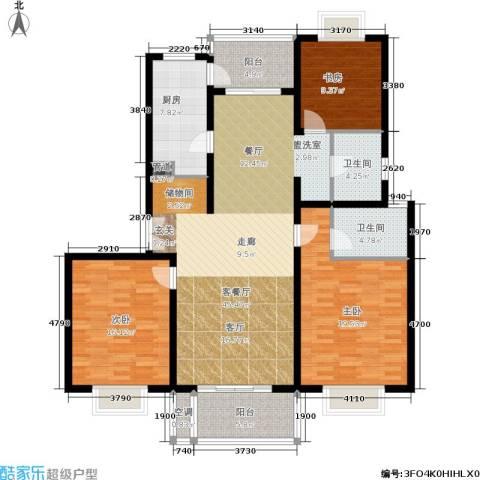 东方听潮豪园3室1厅2卫1厨135.00㎡户型图
