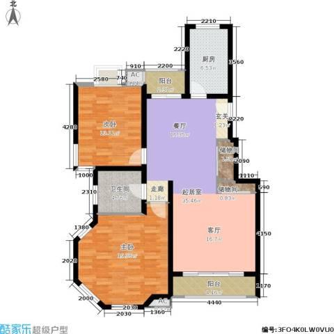 大华锦绣华城第16街区2室0厅1卫1厨127.00㎡户型图