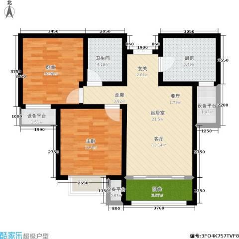 五矿榕园旷世公馆1室0厅1卫1厨90.00㎡户型图