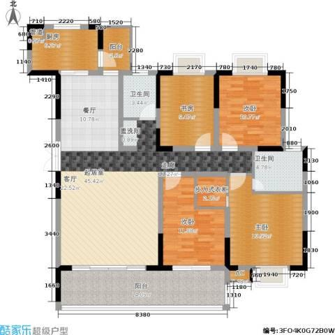 德泽苑4室0厅2卫1厨143.00㎡户型图
