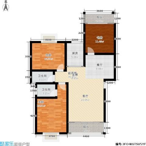 时代名城3室0厅2卫1厨135.00㎡户型图
