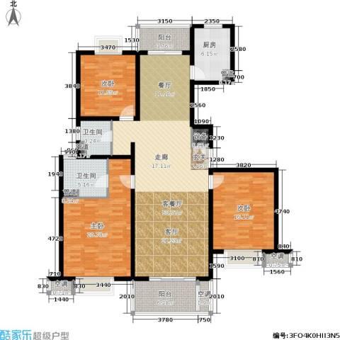 东方听潮豪园3室1厅2卫1厨146.00㎡户型图