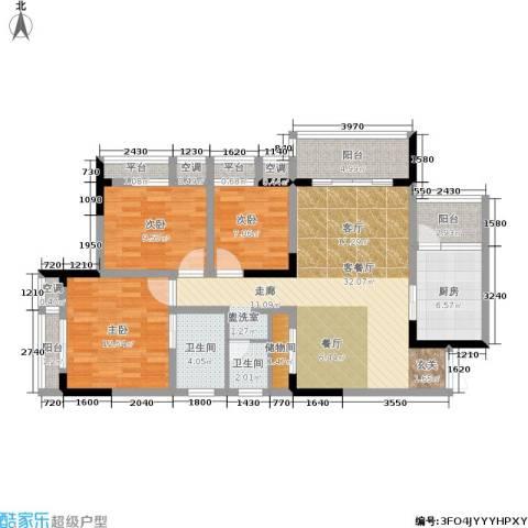 易博华源3室1厅2卫1厨105.00㎡户型图