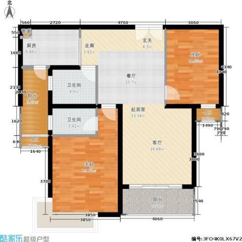 远中风华园2室0厅2卫1厨101.00㎡户型图