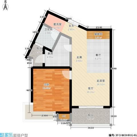舒诗康庭1室0厅1卫1厨68.00㎡户型图