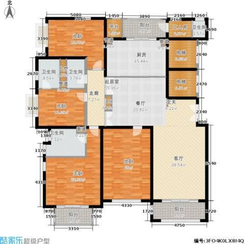 远中风华园4室0厅4卫1厨291.00㎡户型图