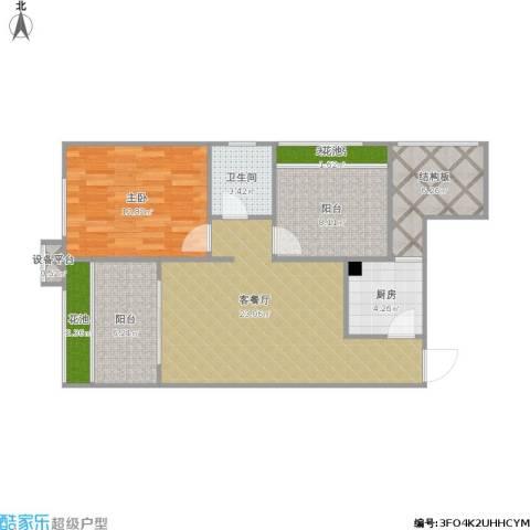 凯旋广场1室1厅1卫1厨94.00㎡户型图