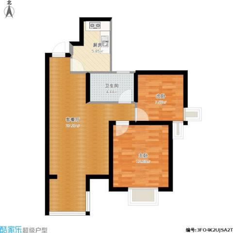 隆盛・乐活源2室1厅1卫1厨83.00㎡户型图