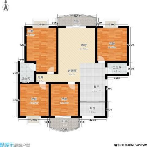 时代名城4室0厅2卫1厨170.00㎡户型图