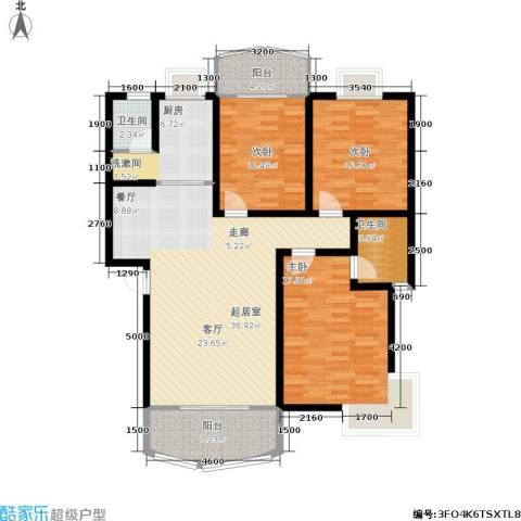 时代名城3室0厅2卫1厨125.00㎡户型图