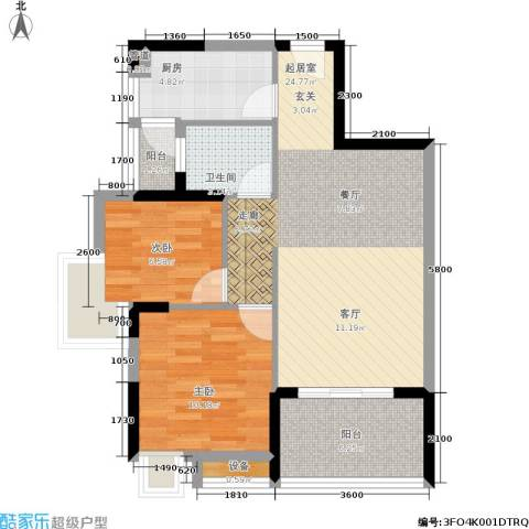 康翔花园2室0厅1卫1厨80.00㎡户型图