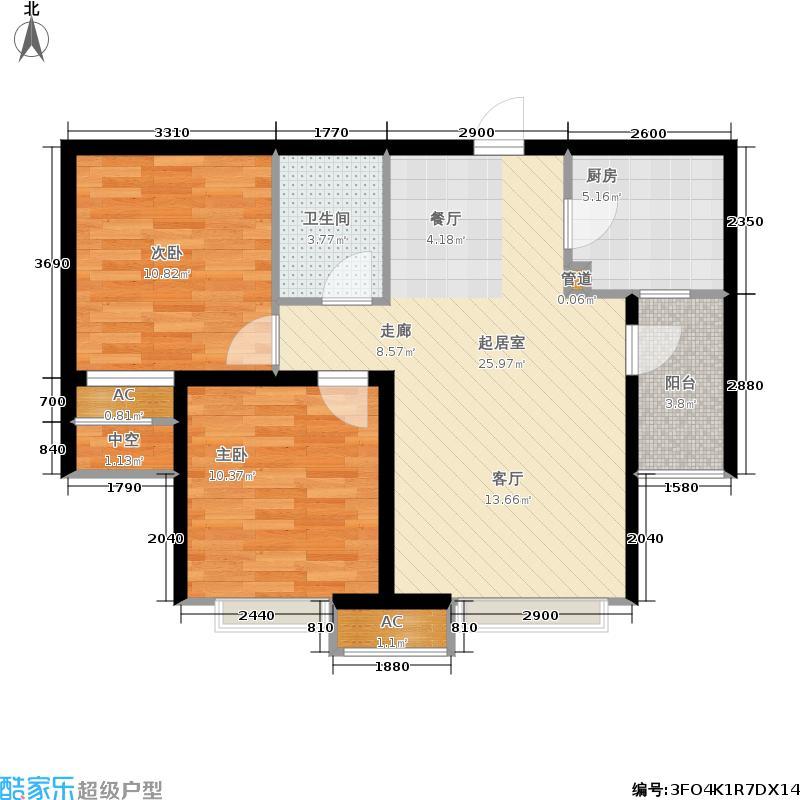 西溪诚园4号楼标准层B4户型