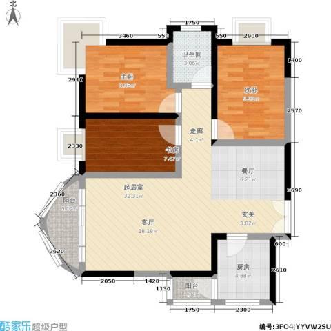 万友康年国际公寓3室0厅1卫1厨84.00㎡户型图