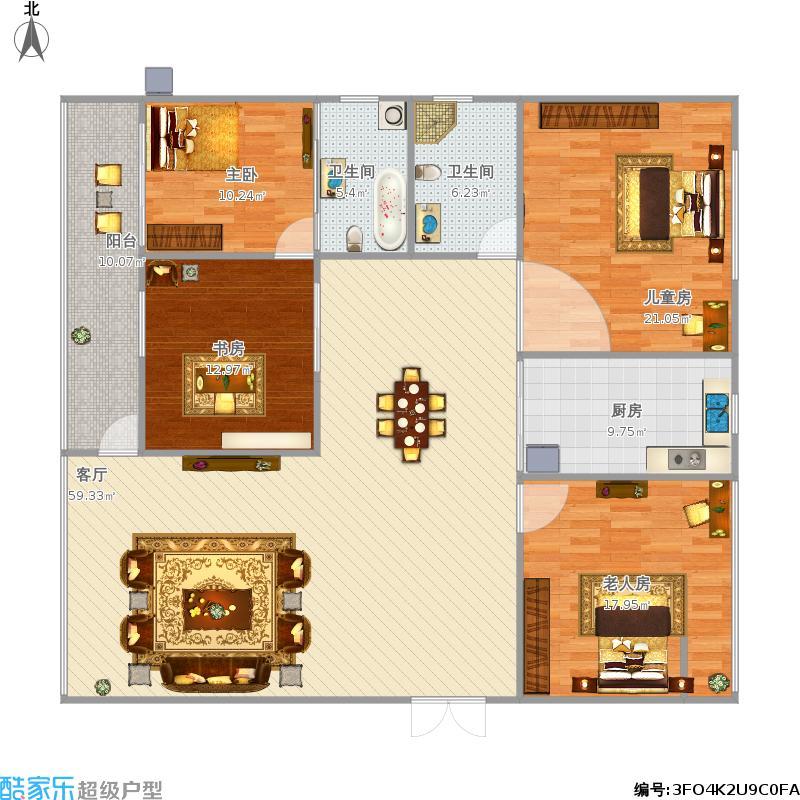 160四室两厅