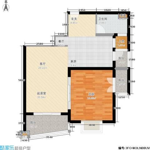 联洋年华1室0厅1卫0厨94.00㎡户型图