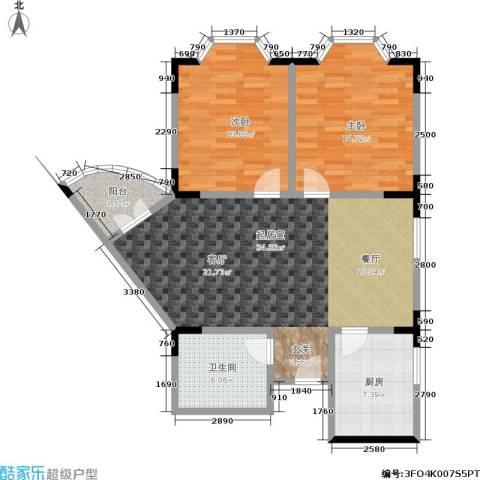金色港湾2室0厅1卫1厨89.00㎡户型图