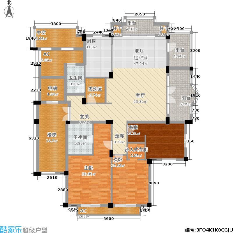 翡翠城162.00㎡印月苑G户型3室2厅
