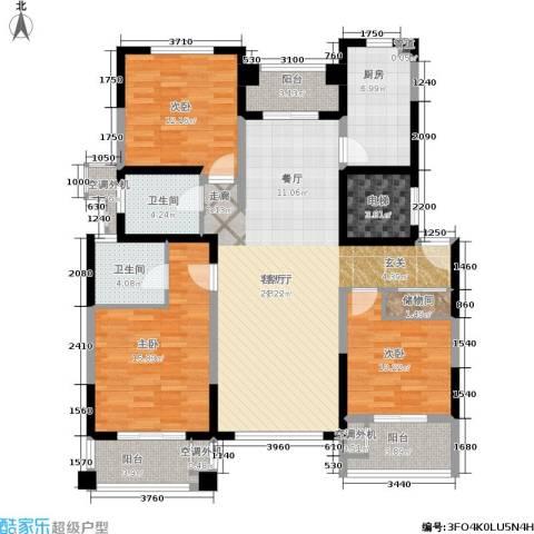 宝宸怡景园3室1厅2卫1厨126.00㎡户型图