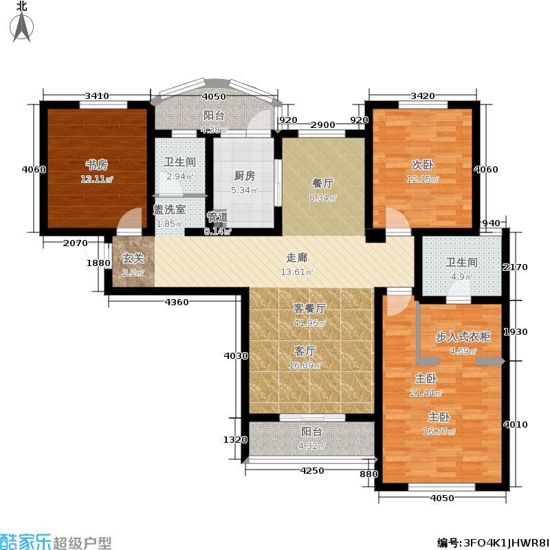 国润城126.76㎡6号楼F1-2户型3室2厅