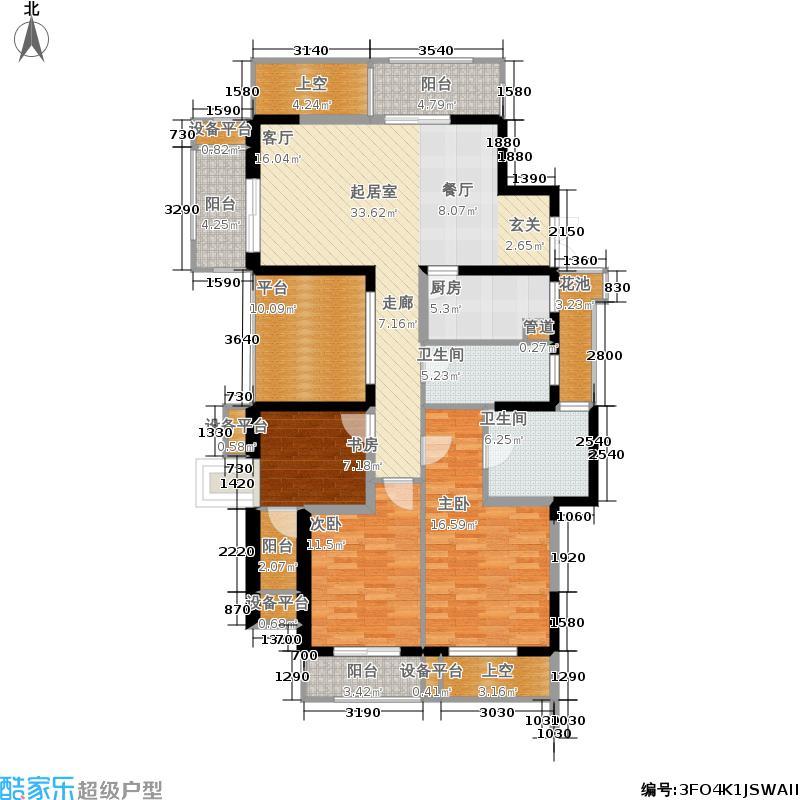 科尔世纪外滩133.00㎡户型3室2厅