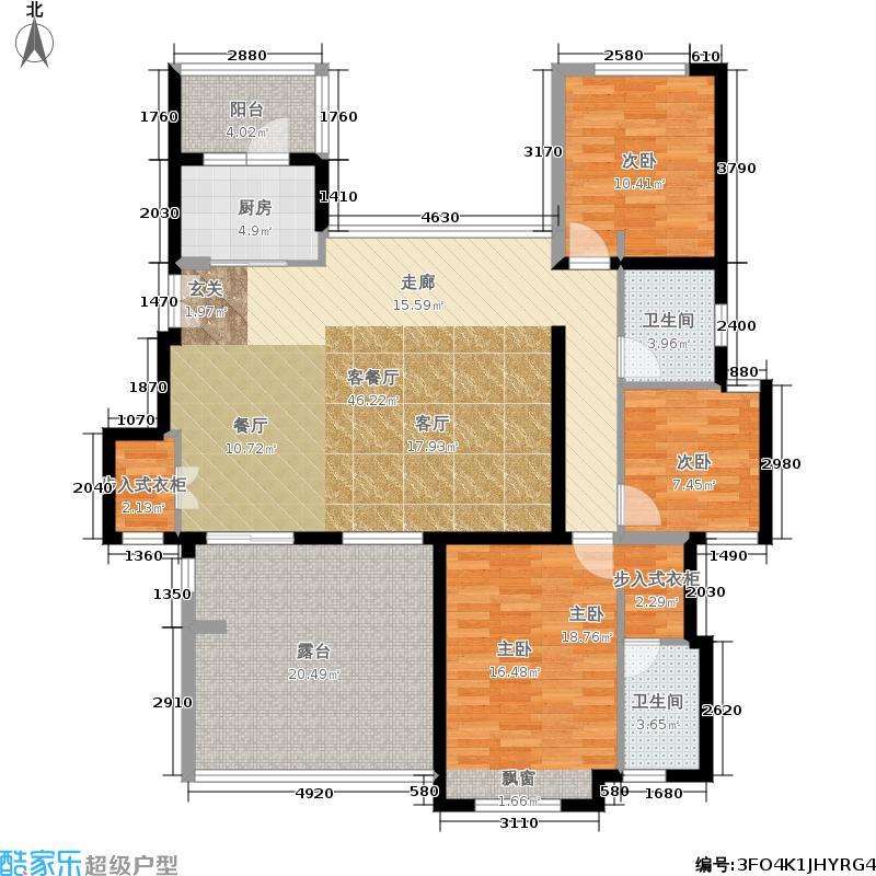 国润城137.40㎡C8号楼H2户型3室2厅
