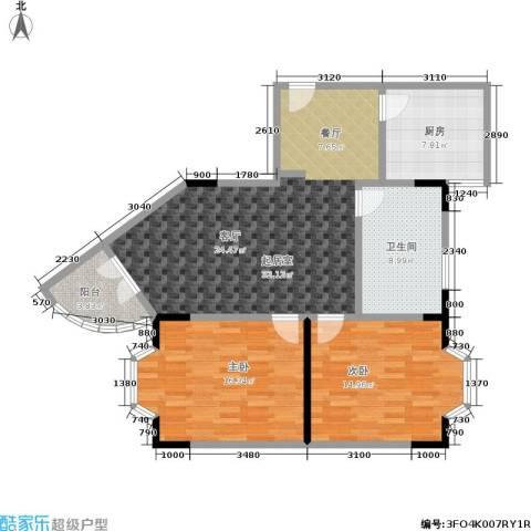 金色港湾2室0厅1卫1厨94.00㎡户型图