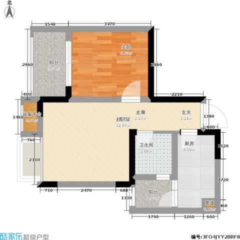 上城奥邻1室0厅1卫1厨42.00㎡户型图