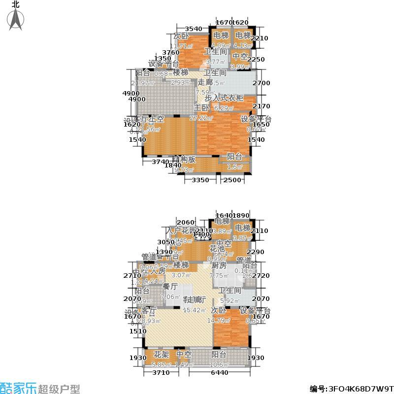 招商澜园户型图1,6,7,8,9栋复式 H户型 五房两厅三卫(8/8张)