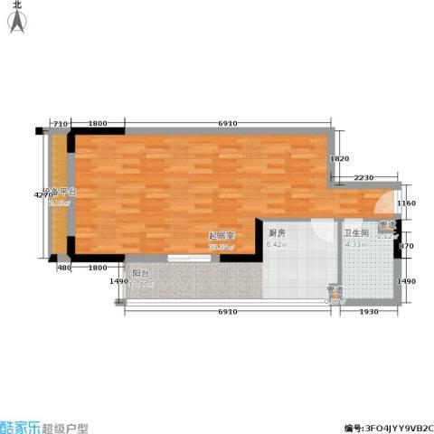 新重庆公寓1卫0厨74.00㎡户型图