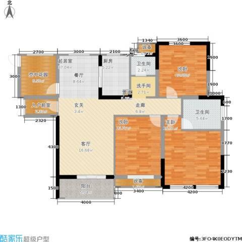 佳美紫郡3室0厅2卫1厨138.00㎡户型图