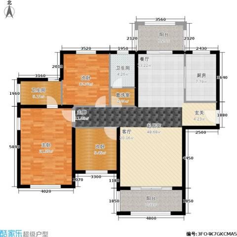 建业森林半岛3室0厅2卫1厨141.00㎡户型图