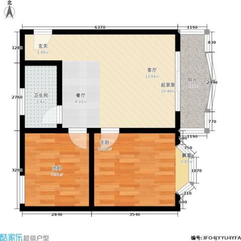 秋实小区2室0厅1卫0厨65.00㎡户型图