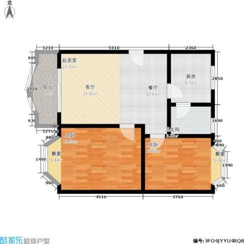 秋实小区2室0厅1卫1厨88.00㎡户型图