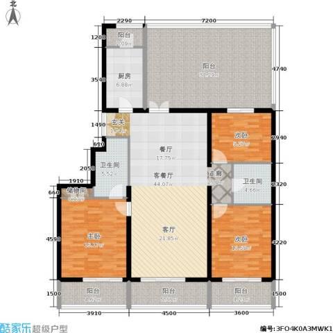 天天家园3室1厅2卫1厨161.00㎡户型图