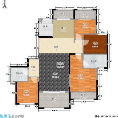 湘水郡4室0厅2卫1厨150.00㎡户型图