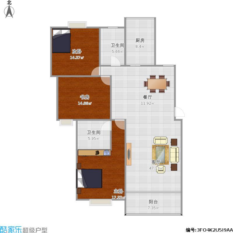 富丽嘉园三房两厅的复制方案