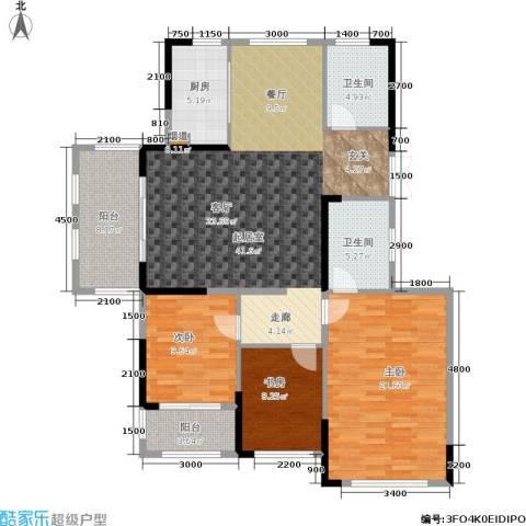 湘水郡3室0厅2卫1厨141.00㎡户型图